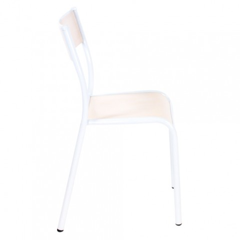 chaise 510 originale label edition naturel blanc
