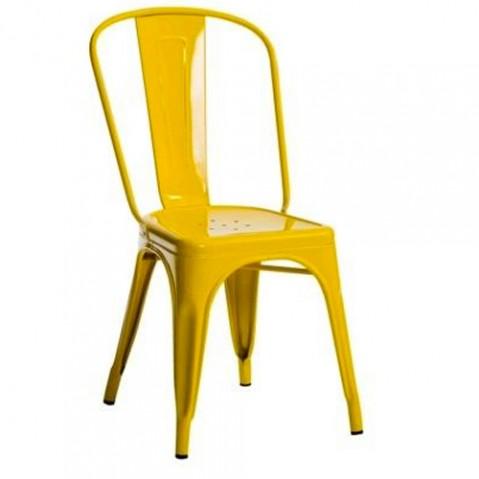 chaise a brillante tolix jaune citron