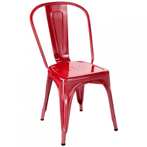 chaise jardin a inox tolix piment
