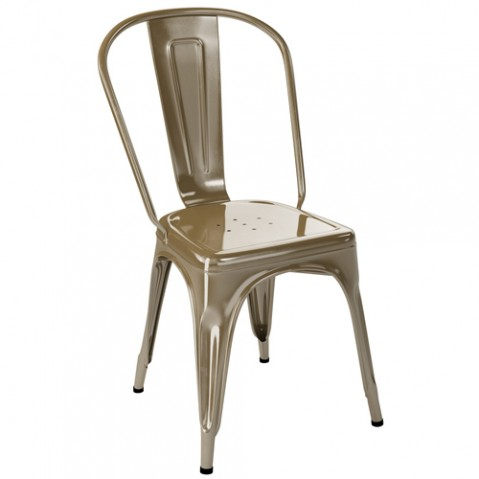 chaise jardin a inox tolix muscade