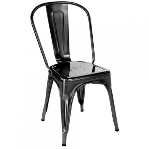 chaise jardin a inox tolix noir