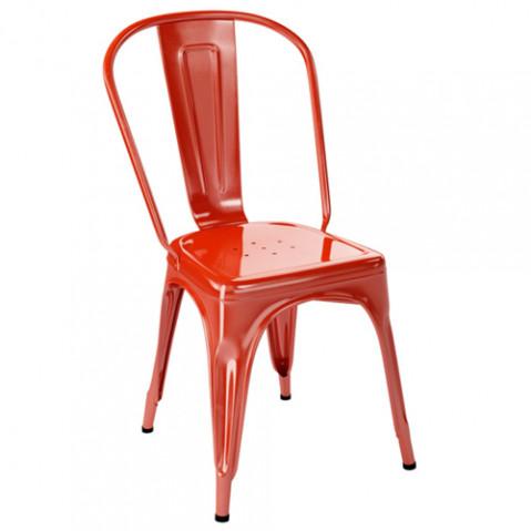 chaise jardin a inox tolix poivron