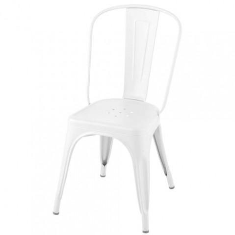 chaise a mat tolix blanc neige