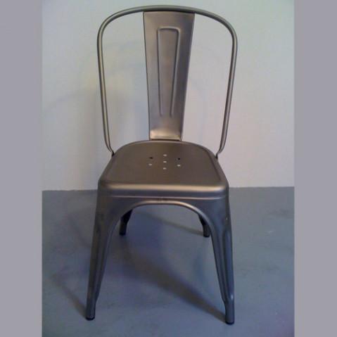 Chaise A Tolix Brut Verni Mat