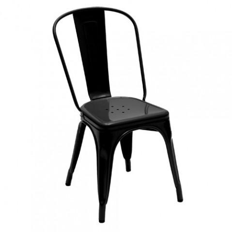 Chaise A Tolix laqué noir