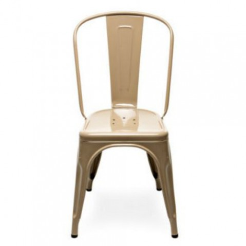 chaise a laque tolix marron ral 1019