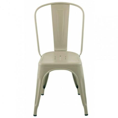 chaise a mat tolix vert gris