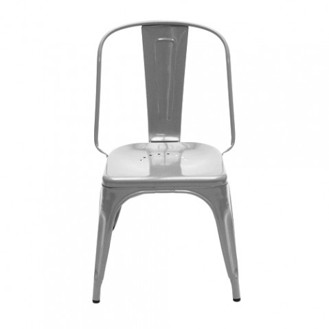 Chaise Design AC Tolix Brut Verni Brillant