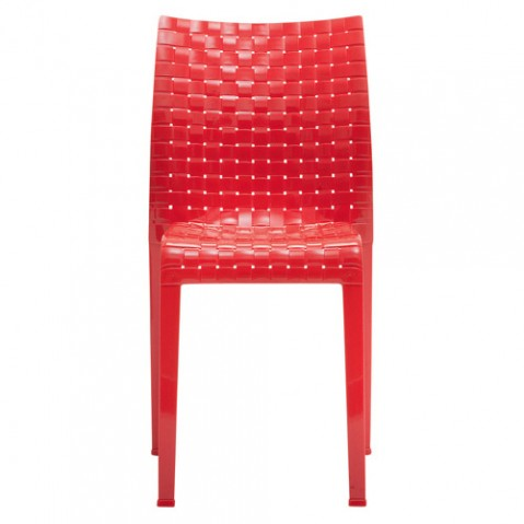 chaise ami ami kartell rouge