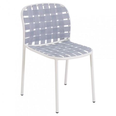chaise yard emu blanc gris