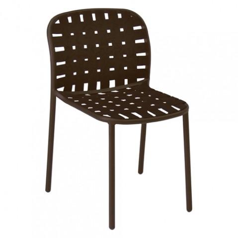chaise yard emu blanc marron