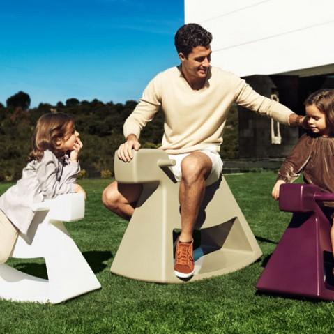tabouret bascule rosinante kids vondom blanc