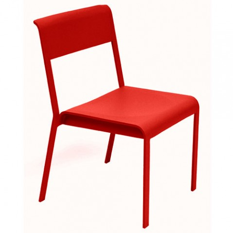 chaise bellevie fermob coquelicot