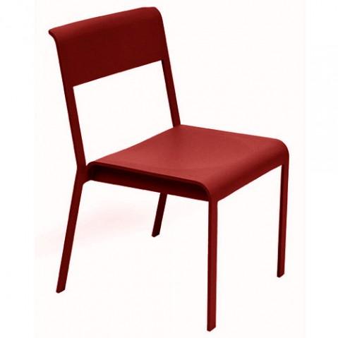 chaise bellevie fermob piment