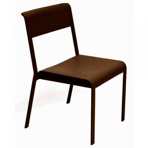chaise bellevie fermob rouille