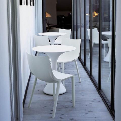 chaise bo driade blanc