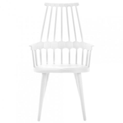 chaise quatre pieds comback kartell blanc