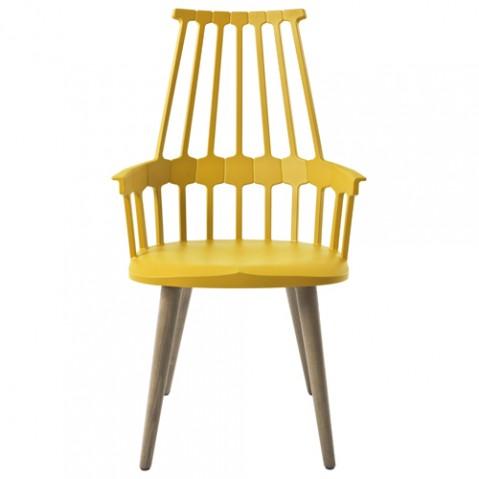 chaise quatre pieds comback kartell jaune