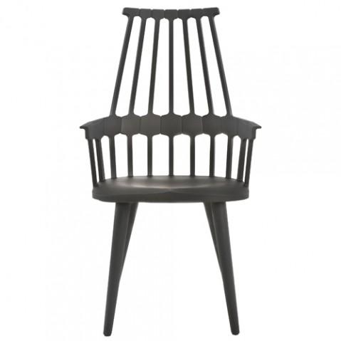 chaise quatre pieds comback kartell noir