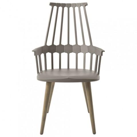 chaise quatre pieds comback kartell noisette