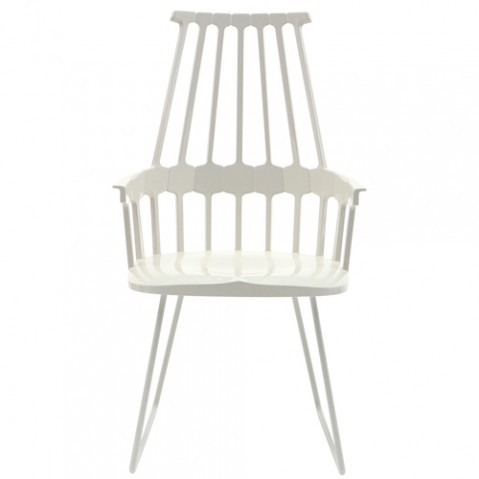 chaise tubulaire comback kartell blanc