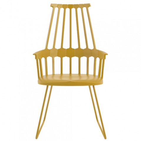 chaise tubulaire comback kartell jaune