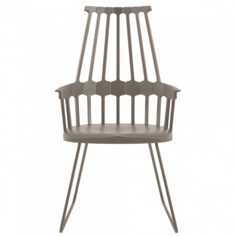 chaise tubulaire comback kartell noisette