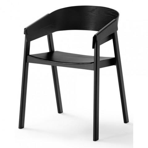 chaise cover muuto noir