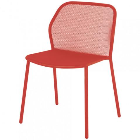 chaise darwin emu rouge