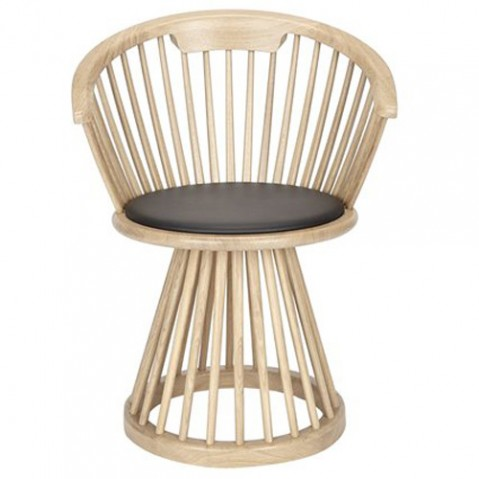 chaise fan tom dixon chene naturel