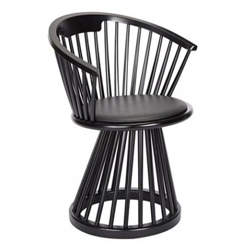 chaise fan tom dixon chene noir