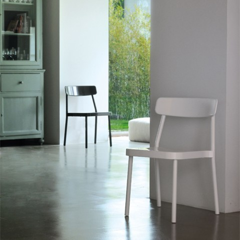 chaise grace emu blanc