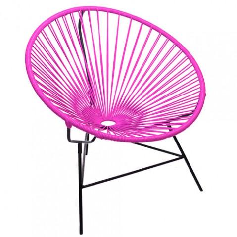 fauteuil huatulco boqa fuchsia