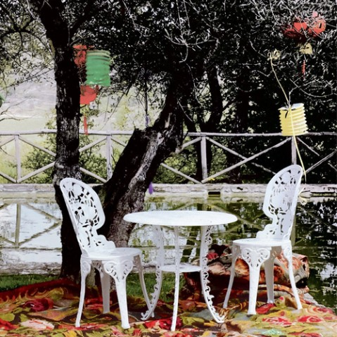 chaise industry garden seletti vert