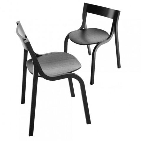 chaise konrad la palma chene noir