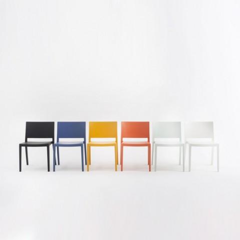 chaise lizz mat kartell blanc