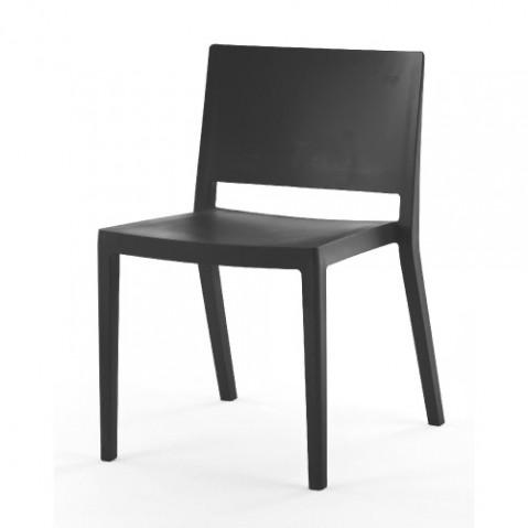 chaise lizz mat kartell noir