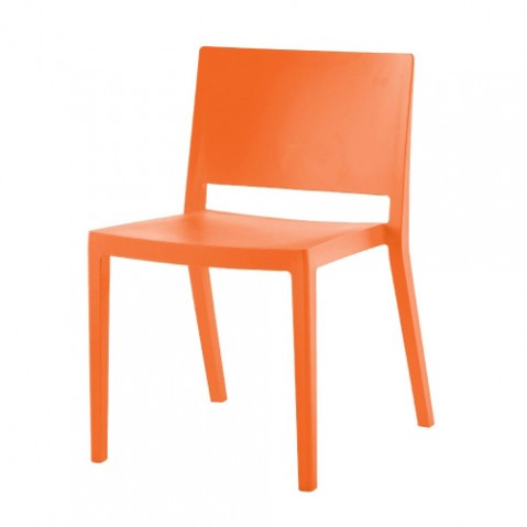 chaise lizz mat kartell orange