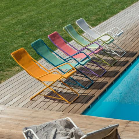 chaise longue bahama emu bleu ciel