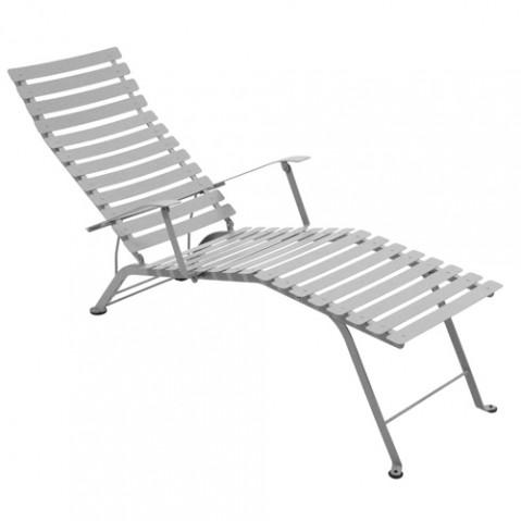 chaise longue bistro fermob gris metal