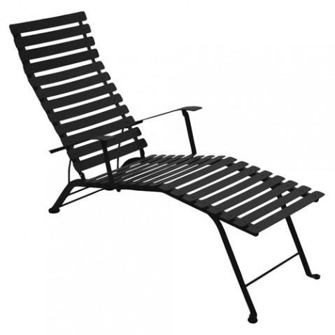 chaise longue bistro fermob reglisse
