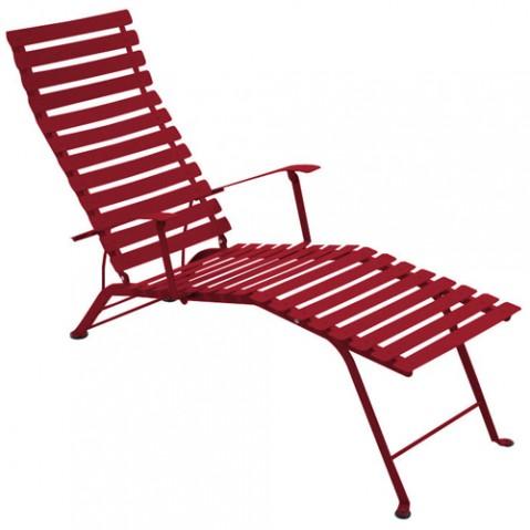 chaise longue bistro fermob piment