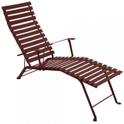 chaise longue bistro fermob rouille