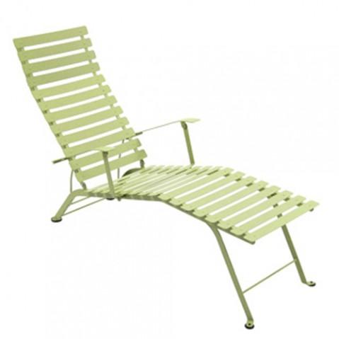 chaise longue bistro fermob tilleul