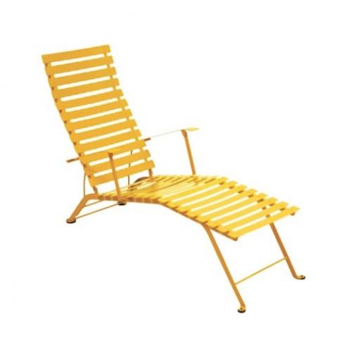 chaise longue bistro fermob miel