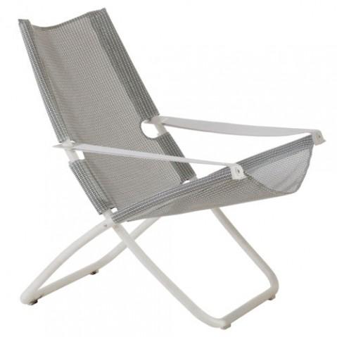 chaise longue snooze emu blanc gris clair