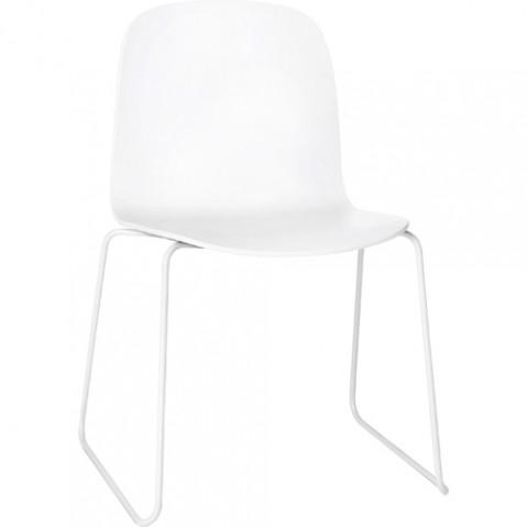 chaise luge visu muuto blanc