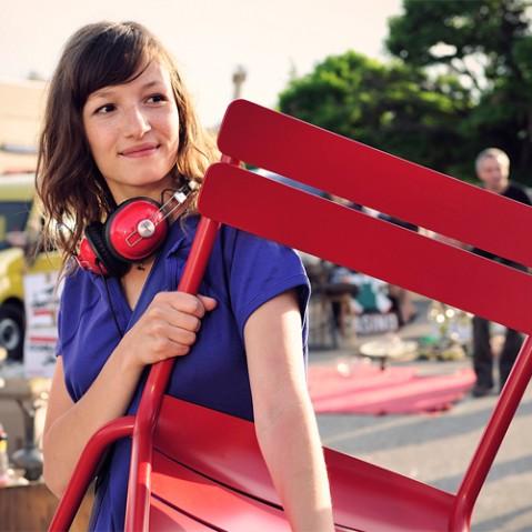 Luxembourg Chaise Design Fermob Coquelicot