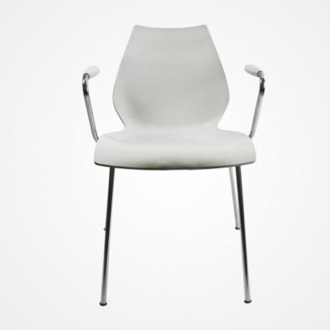 chaise accoudoirs maui kartell blanc