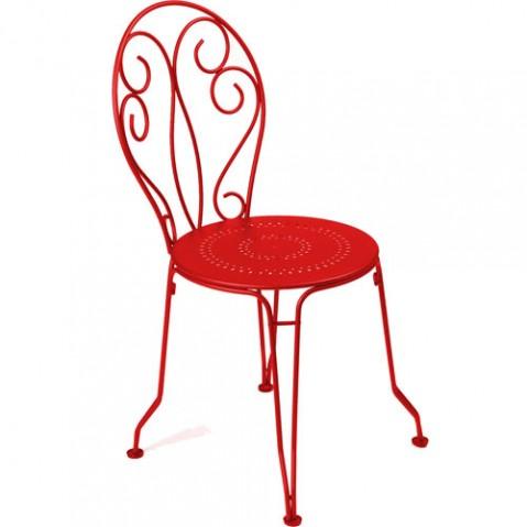 chaise montmartre fermob coquelicot